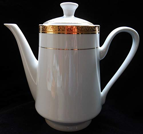 Sango® Elegance Dinnerware No. 8499 RETIRED PATTERN Gold Trim COFFEE TEA POT with LID Replacement Pieces