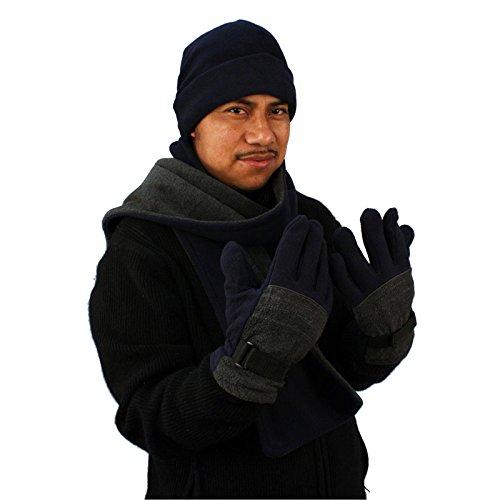 Winter Fleece Hat Scarf Gloves