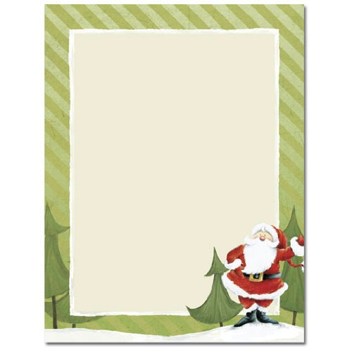 Black and white christmas borders for letters halloween holidays amazoncom happy santa claus with green border holiday christmas computer printer paper 100 sheets everything else spiritdancerdesigns Choice Image