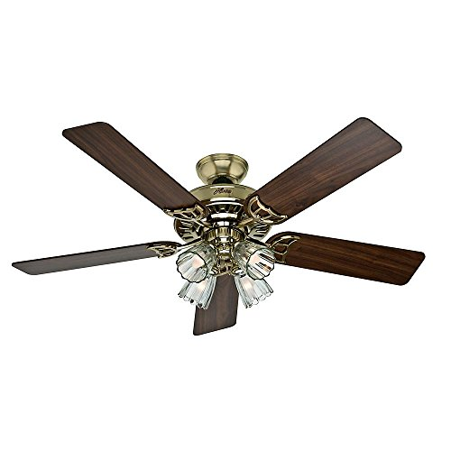 Medium Oak Ceiling Lights - Ceiling Fan With Light