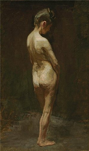 'Thomas Eakins,Female Nude(Study),ca.1881' Oil Painting, 24x41 Inch / 61x103 Cm ,printed On Perfect Effect Canvas ,this High Resolution Art Decorative Canvas Prints Is Perfectly Suitalbe For Kids Room Gallery Art And Home Decor And Gifts