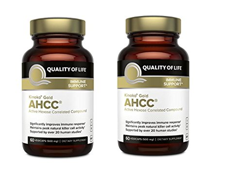 Kinoko Gold AHCC Capsules - 60 Vegicaps (Pack of 2) by Quality of Life