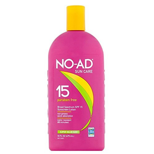 NO-AD Sunscreen Lotion, SPF 15 16 oz (Pack of 8)