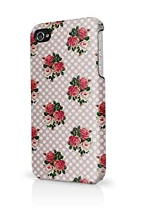 English Roses And Polka Dots iphone 6 4.7 Case Fits iphone 6 4.7 Full Print Plastic Snap On Case