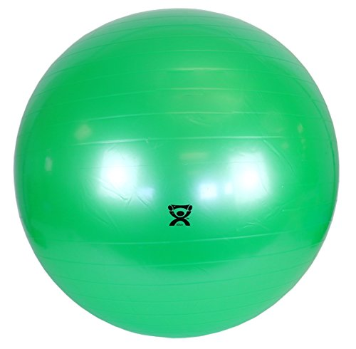 CanDo Non-Slip Vinyl Inflatable Exercise Ball, Green, 25.6'