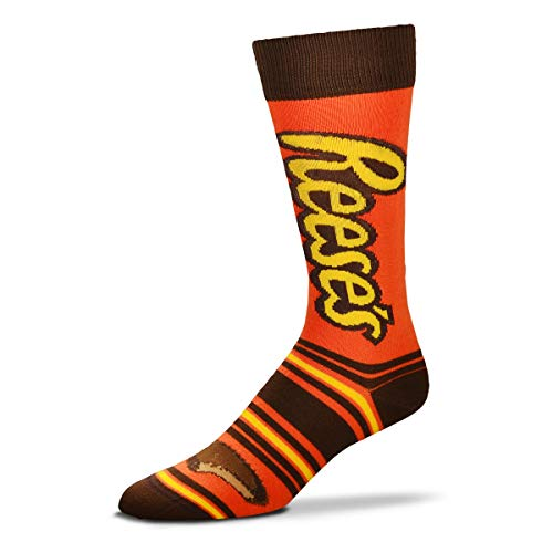 (For Bare Feet Mens & Womens Fun Novelty Hershey's Candy -Stripealicious-Crew Socks-One Size Fits Most-Reese's-OSFM)
