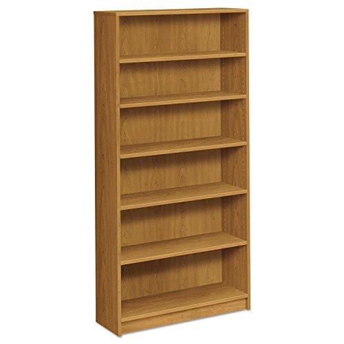HON 1870 Series Bookcase, Six-Shelf, 36w x 11-1/2d x 72-5/8h, Harvest