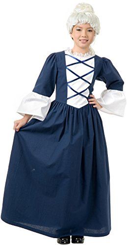 Charades Martha Washington Historical Costume, Blue/White, X-Large from Charades