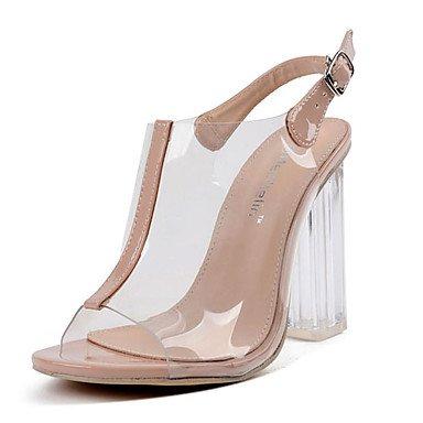 RTRY Sandalias De Mujer Zapatos Club Verano Traje De Goma Chunky Talón Talón De Bloque De Almendra Almendra Hebilla Us8 / Ue39 / Uk6 / Cn39 US8.5 / EU39 / UK6.5 / CN40