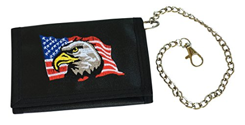 mens-black-chain-wallet-velcro-trifold-with-usa-eagle
