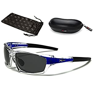 Polarized Wrap Around Fishing Driving Cycling Golf Sunglasses - Clear & Gold