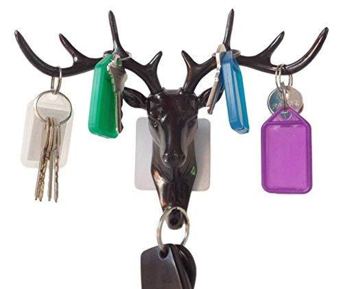 ZWANDP Deer head Self Adhesive Wall Door Hook Hanger Hanger Animal Hook Keys Sticky Holder