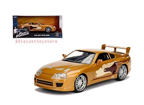 DIECAST Toys CAR JADA 1:24 W/B - Fast & Furious - Slap Jack's Toyota Supra (Gold) 99540-4 (The Fast And The Furious 4 Cast)