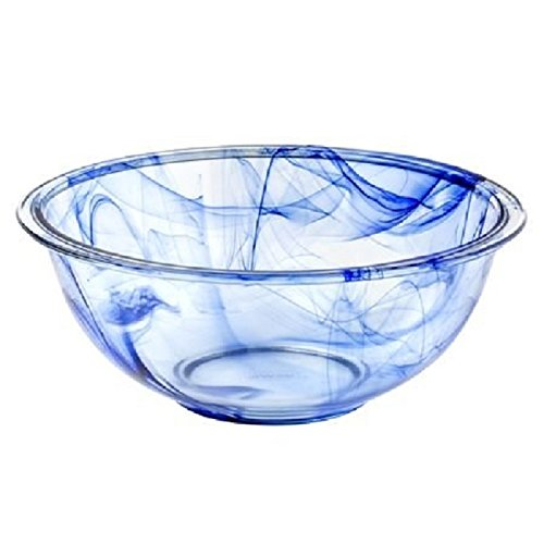 Blue Glass Bowl (Pyrex Watercolor Collection Blue Lagoon 2.5 Quart Mixing Bowl)