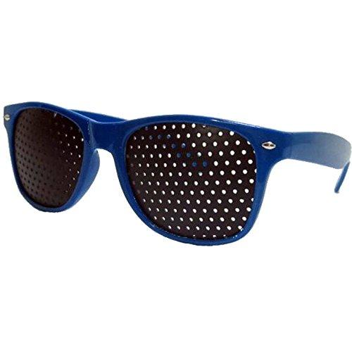 Vision Care Visual Correction Glasses Exercise Improve Eye Eyesight Eyewear (Blue) by WOShop