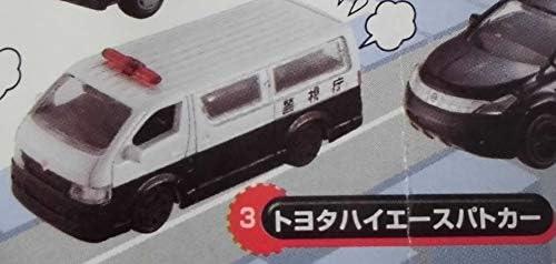 カプセルエムテック がんばれ!はたらくクルマ VOL.9 トヨタハイエースパトカー 単品 カプセルトイ