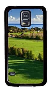 Samsung Galaxy S5 Case,Samsung Galaxy S5 Cases - Amazing Green Landscape Custom Polycarbonate Hard Back Case For Samsung Galaxy S5 - Black