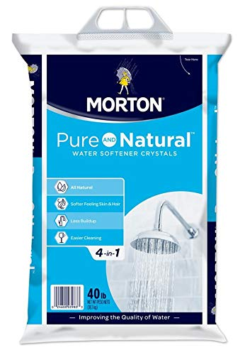 Morton U26624S Pure AND Natural Water Softening Crystals, 40-Pound by Morton