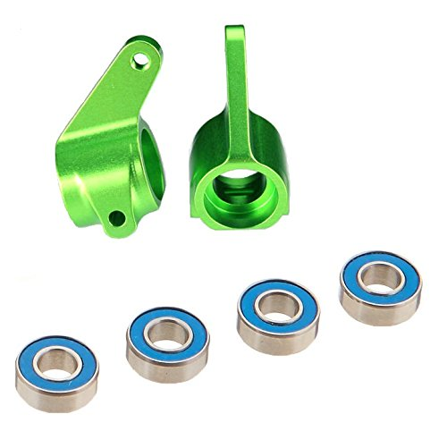 Traxxas 3636G Green-Anodized 6061-T6 Aluminum Steering Blocks (pair)