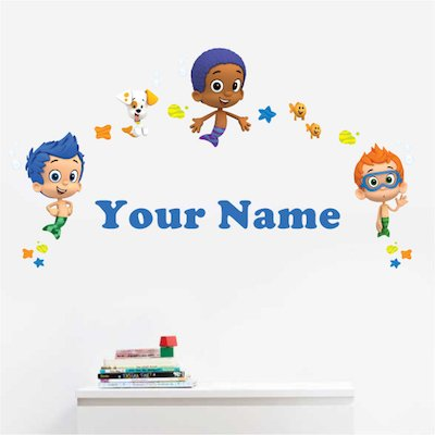 Personalized Bubble Guppies Boys Kids Name Wall Decal: Baby