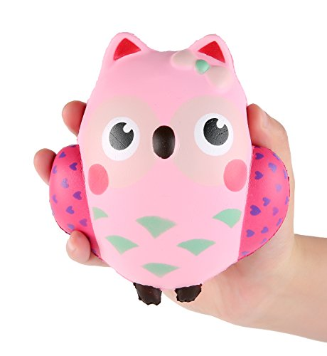 AOLIGE Jumbo Squishy Kawaii Cute Owl Cream Scented Squishies Slow Rising Decompression Squeeze Toys for Kids or Stress Relief Toy Hop Props, Decorative Props Large -