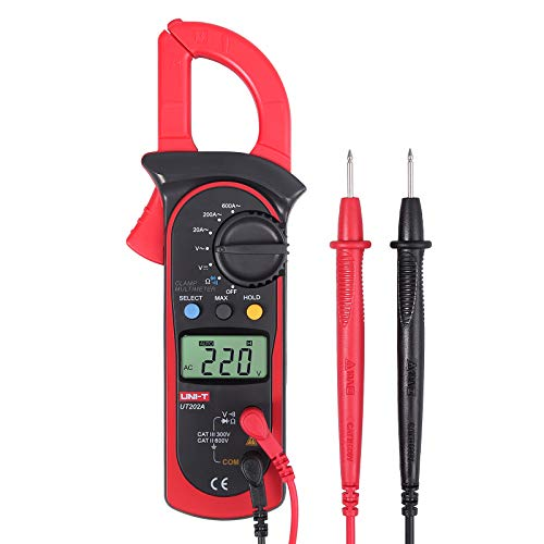 Proster Digital Clamp Meter 2000 Counts Auto-Ranging Clamp Multimeter AC DC Current Meter Voltage Tester TRMS NCV Ohm Tester Continuity Capacitance Resistance Frequency Diode Hz Test