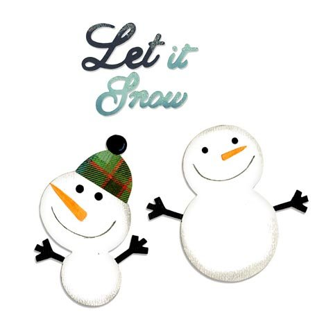 Sizzix Basic Grey Snowmen and Let It Snow Bigz and Sizzlits Dies