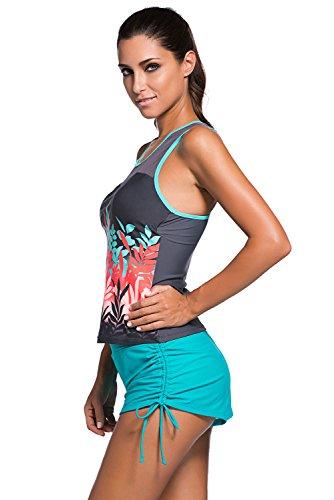 LOVEOURS,Bañadores de Tejidos Cómodos Bikinis Push Up Bañador Trajes De Baño Swimwear Bikini Ropa De Baño Traje Mujer Ropa Playa Escotado Por Detrás Color4