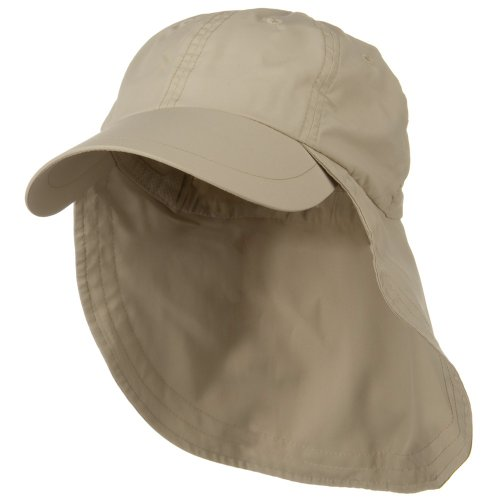 Supplex Long Bill Neck Cap - Khaki OSFM