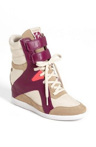 ut Hidden Wedge AK Alicia Keys Canvas Midtop Fashion Sneakers Size: 8 B(M) US, Color Paperwhite Canvas Victory Pink Aubergine ()