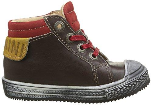 Catimini Albatros - Zapatos de primeros pasos Bebé-Niñas Marrón - Marron (14 Vtu Marron/Rouge Dpf/Omero)