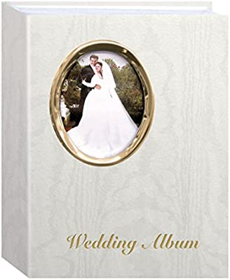 Pioneer Photo Albums 200 Pocket Ivory Moire Cover Album With Gold Tone Oval Frame And Wedding Album Text For 4 X 6 Inch Prints Buy Online At Best Price In Uae Amazon Ae