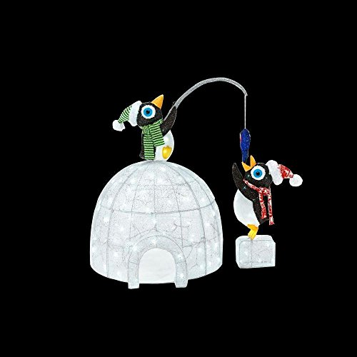48'' LED Penguin Igloo Penguins Christmas Decoration by Home Accents