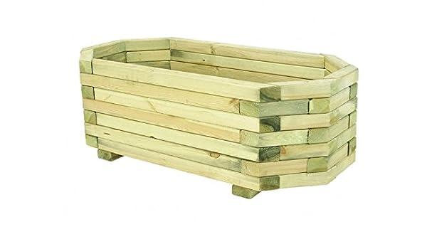 Maceta de madera caja – tiene un Jenga como estilo – Una gran Opción para Jardineros Que Tenemos Patios y Jardines pequeños: Amazon.es: Jardín