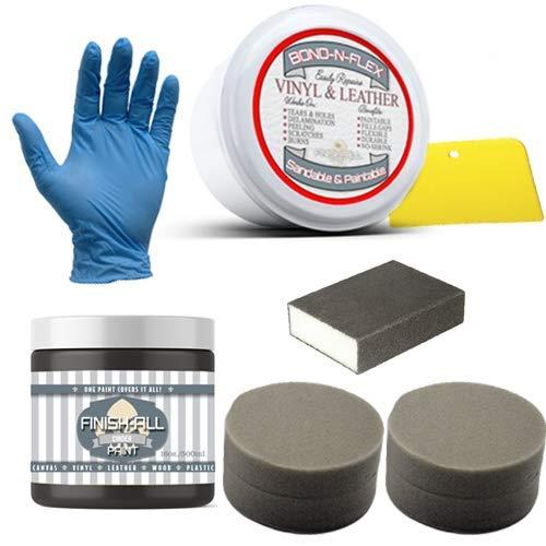 Heirloom Traditions Paint Bond-N-Flex Vinyl & Leather Repair, 8oz Kit (Cinder)