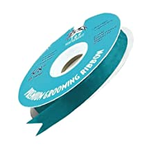 Top Performance Satin Acetate Durable Grooming Pet Ribbon, 100-Yards, Turquoise