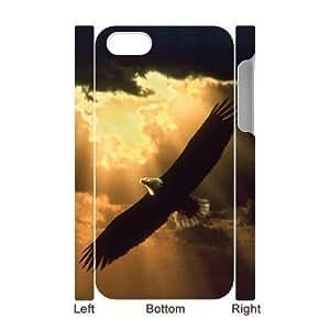 3D Bumper Plastic Case Of Eagle customized case For iPhone 5c