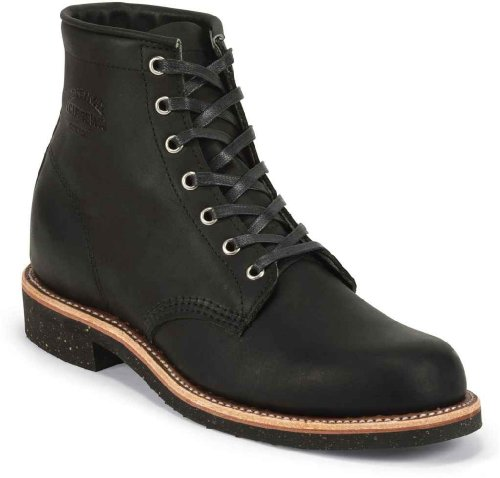 Leather Chippewa Negro Boots 1901M24 Mens vqxEw1Wx7C