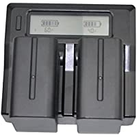 Quick Dual-Channel LCD Charger + 2x 7800mAh Battery Pack For Sony NP-F990 NP-F970 NP-F960 NP-F330 NP-F550 NP-F750 NP…