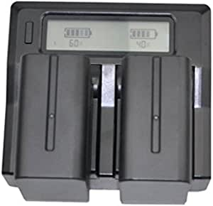 Quick Dual-Channel LCD Charger + 2x 7800mAh Battery Pack For Sony NP-F990 NP-F970 NP-F960 NP-F330 NP-F550 NP-F750 NP-F770 NP-F930 NP-F950 CCD-TRV Camera Camcorder Photography Photo LED Vedio Light Lamp