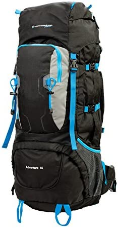 65L Large Waterproof Backpack Travel Hiking Camping Sport Rucksack Luggage Bag