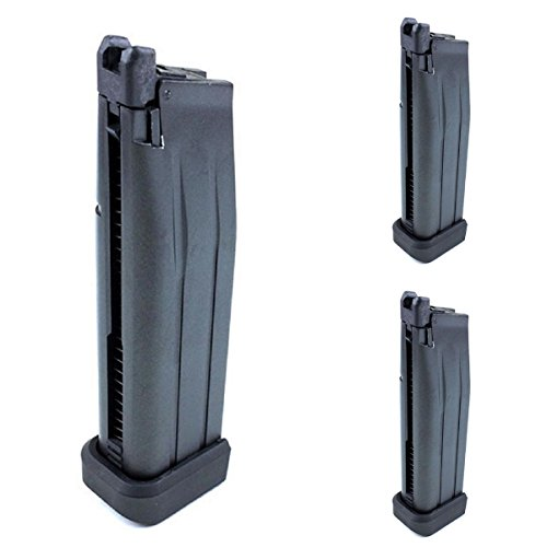 Airsoft Shooting Gear Army Force 3pcs 30rd Co2 Magazine For Marui/WE Hi-Capa Series GBB Black by Airsoft Shopping Mall