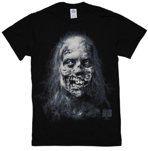 The Walking Dead Bike Walker Ugly Zombie Adult Black T-shirt