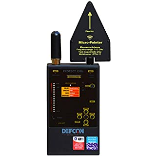 DefCon DD1206 Professional Digital Radio Frequency RF Bluetooth, GSM (Cellular), WiFi, Detector Hunter Sweeper