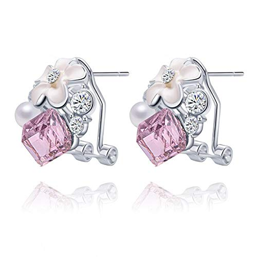 Harva Brincos Crystal Earrings for Women Hot Sale Costume Jewelry Women Special Offer Stud Earring Online Shopping India - (Metal Color: Color01) (Sale Online Shopping India)