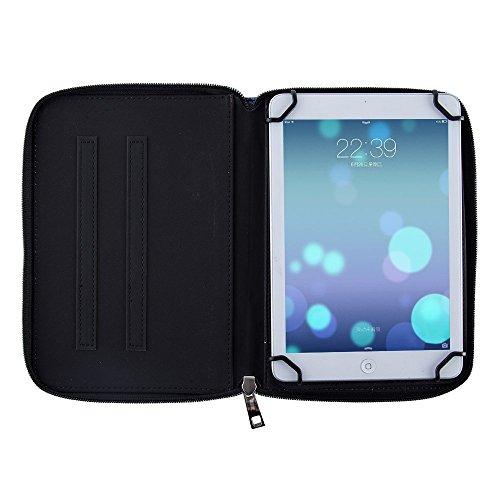 Casezilla Sanei G708 2G Android Tablet 360 Rotating Universal EVA Hard Shell Folio Case - Jellyfish Polka at Electronic-Readers.com