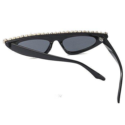 Gato la de de protección Mujer Gafas Godbb de Tonos UV de triángulo de Sol Gafas Ojos Lujo de Moda conducción de para Cristal Sol Gafas Negro Personalidad de Ojos Proteccion Pequeño Sol de de señora Aq8qw50