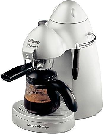 Ufesa CE7121 Futura Eleganza, Plata, 750 W, 230 V, 230 MB/s, 50 Hz, 245 x 290 x 175 mm - Máquina de café: Amazon.es: Hogar