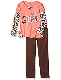 Little Girls' 2 Piece Sweet Girl Shirt and Pant