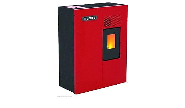 Estufa de pellets Mod.Camilla 5,16 kW, color rojo.: Amazon.es: Bricolaje y herramientas